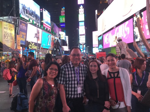 @Time Square with Father Commendador